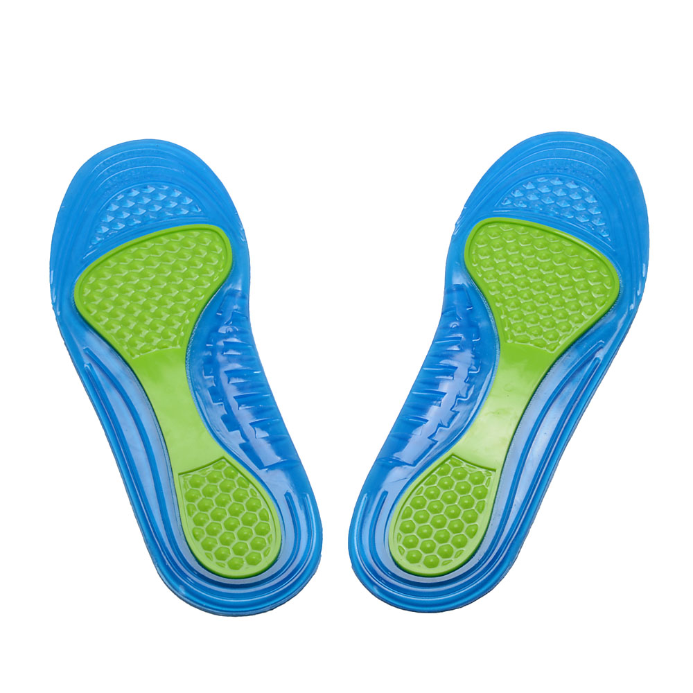 SOCOMFY Gel Silicone Sports Insoles Shock Absorbing For Shoes Men Women Comfortable Insoles Pads Inserts Cushion
