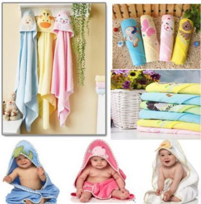 2016 100% algodão dupla camada cobertor do bebê Roupão de Banho Com Capuz Crianças Toalhas Bebê Crianças Toalhas De Banho Crianças Kinderen Handdoeken