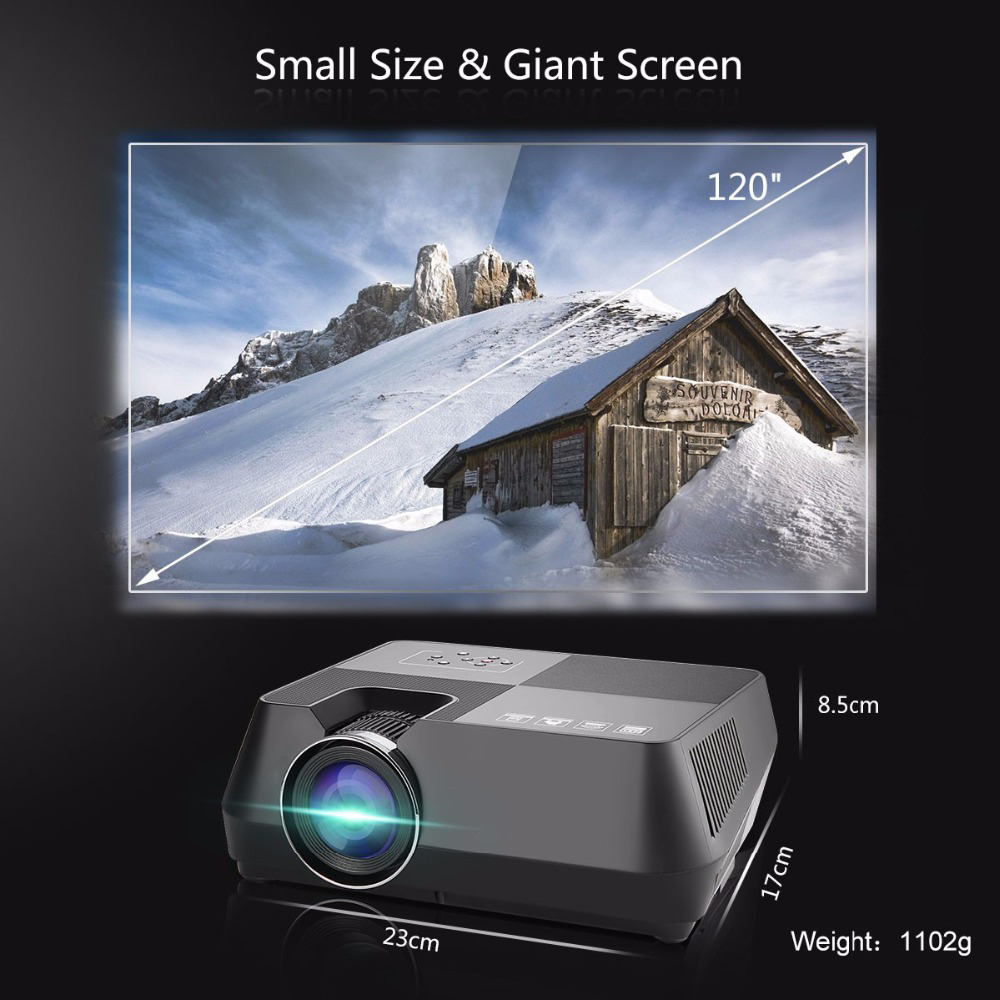 Vivicine V8 V8 Pro Mini LED Projector,800x480p Home Theater HDMI USB VGA WIFI Video Game Proyector Beamer (16)