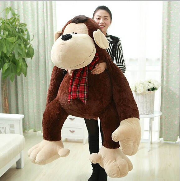 huge plush monkey toy lovely hugging orangutans doll large monkey gift doll about 150cm 0545 the huge lovely hippo toy plush doll cartoon hippo doll gift toy about 160cm pink