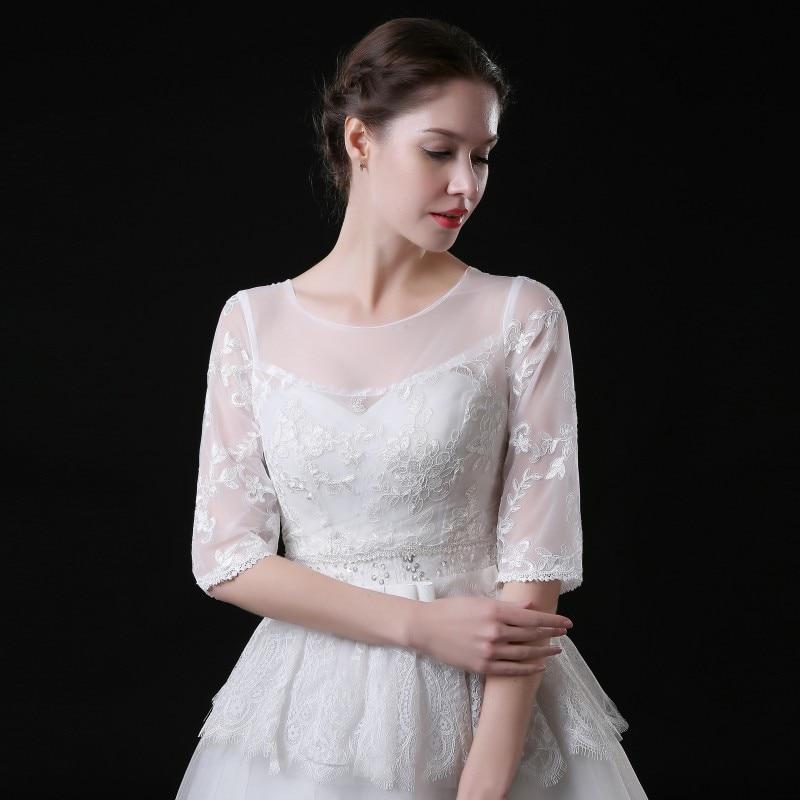 Half Sleeve Lace Wedding Jacket Hot Sale Bridal Bolero Wedding Accessories Wedding Bolero Wrap Shawl In Stock