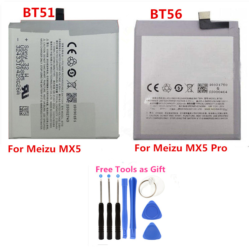 Battery Bt51-Bt56-Phone Meizu Mx5 5-Li-Ion-Replacement For Mx5pro/pro Free-Tools Free-Tools