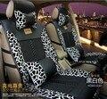 2016 авто поставки четыре сезона льна материал сиденья 5 2pices/set сиденье автомобиля включает подушки Простой комфорт leopard дизайн