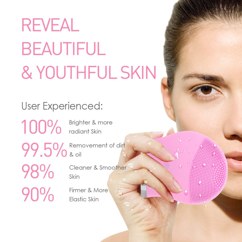 Electric Face Cleanser Pore Clean Silicone Cleansing Brush Massager Facial Vibration Skin Care Spa Massage Tool electric face brush spa skin care massage deep clean multifunctional facial cleansing brush daily cleaning exfoliation