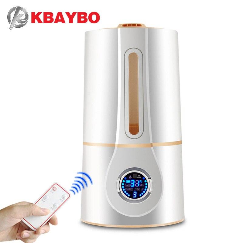 KBAYBO воздушный диффузор 3L fogger ультразвуковой увлажнитель воздуха с пультом дистанционного управления Электрический Очиститель Воздуха Хол...