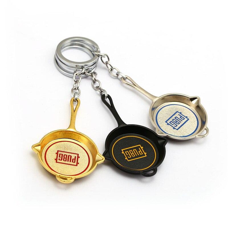 HSIC Playerunknowns PUBG Keychain Winner Chicken Dinner Weapon Keyring Metal Pans Chaveiro Llavero Sleutelhanger Men Jewelry HC