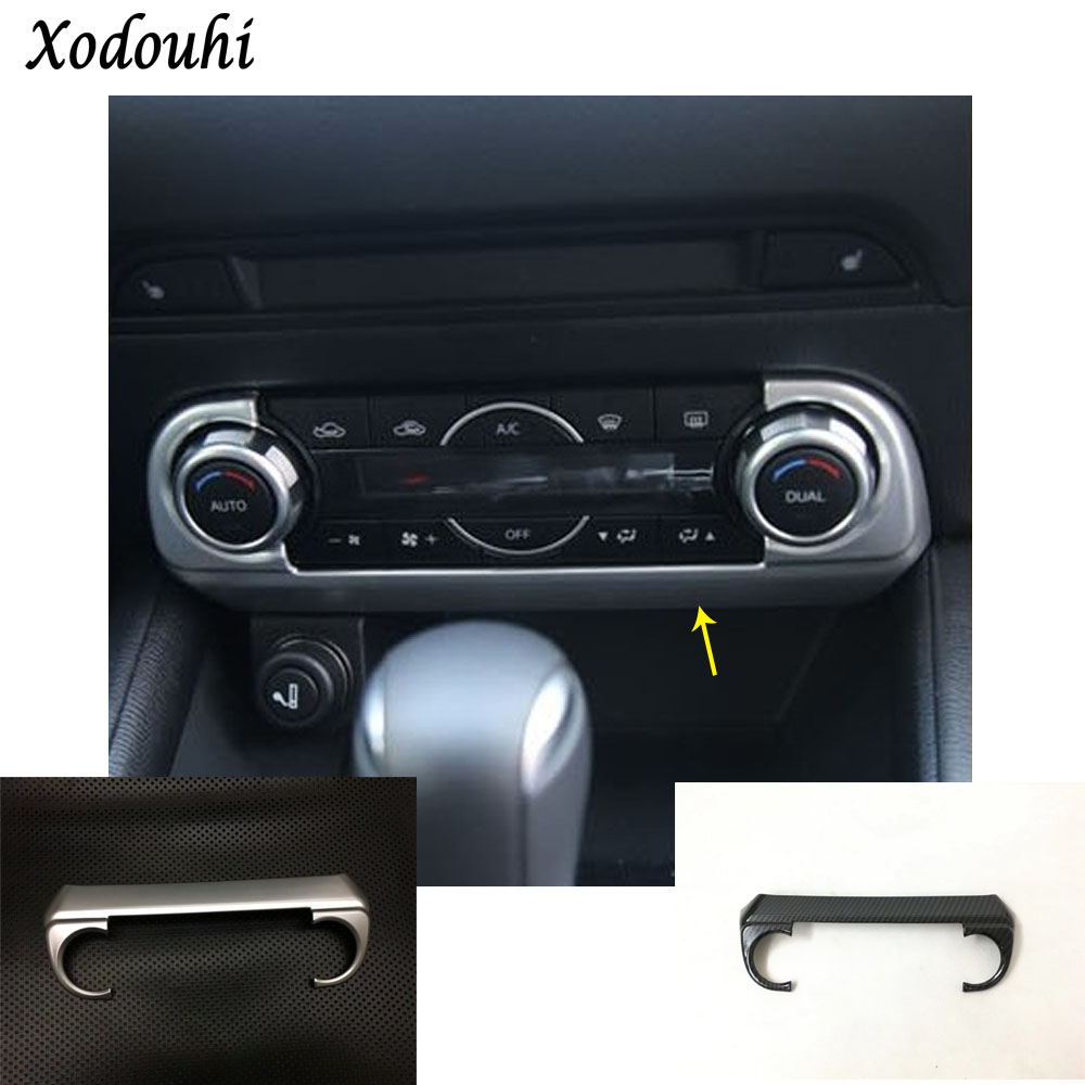 Car body trim middle Air conditioning switch temperature Button Outlet Vent panel part For Mazda CX-5 CX5 2nd Gen 2017 2018 for mazda cx 5 cx5 2017 2018 2nd gen lhd auto at gear panel stainless steel decoration car covers car stickers car styling