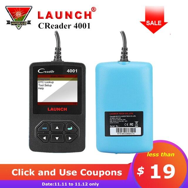 Flash Promo Launch CReader 4001 OBD2 Scanner DIY Car Code Reader CR4001 OBDII Diagnostic Tool Free Update X431 CR419 Same as Autel AL319