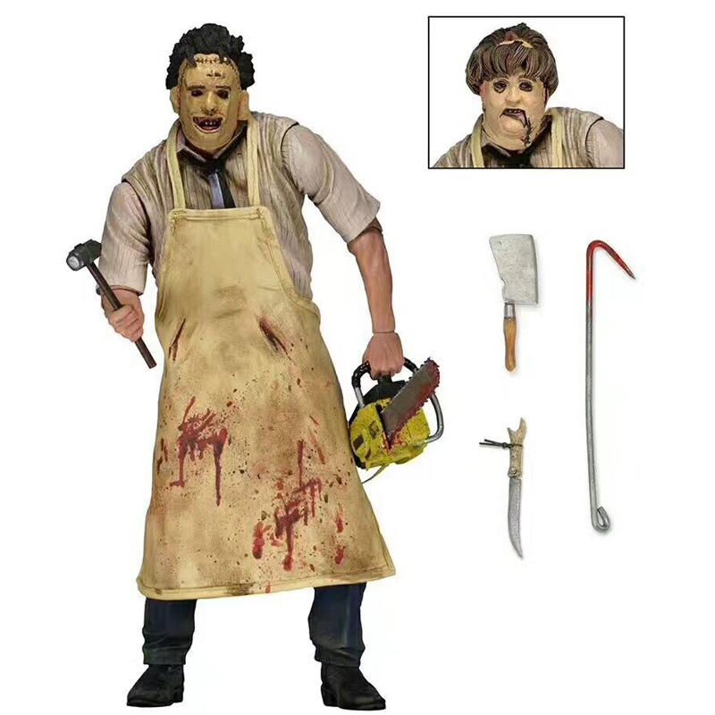 40TH Leatherface The Texas Chainsaw MASSACRE PVC Action Figure Collectible Model Toy 7 18cm genuine mezco texas chainsaw massacre saw massacre pvc action figure collectible model toy christmas gifts free shipping