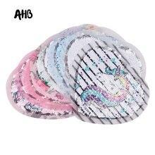 AHB Reversible Sequin Patch for Clothes Cute Mermaid Monocerus Rabbit Pattern Decorations Garment Decorative Accessories