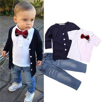 0c4fced78 Casual de dibujos animados bebé niños niñas 2 piezas conjuntos de ropa para  niños conjunto de ...