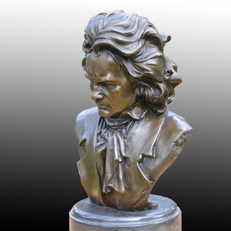 Beethoven busto BRASS como compositor de música pianista estudo - Decoração de casa - Foto 3