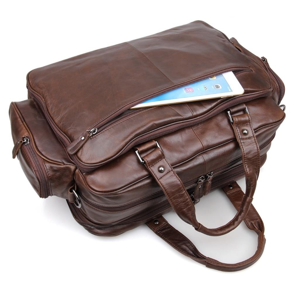J.M.D Nieuwe collectie Manly Real Leather Trendy Reistassen Handtas - Trolley en reistassen - Foto 5