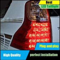 Стайлинга автомобилей задние фонари для Toyota Prado Fj150 2011 2016 задний фонарь светодиодный задний фонарь Drive + сигнала + Тормозная + обратный