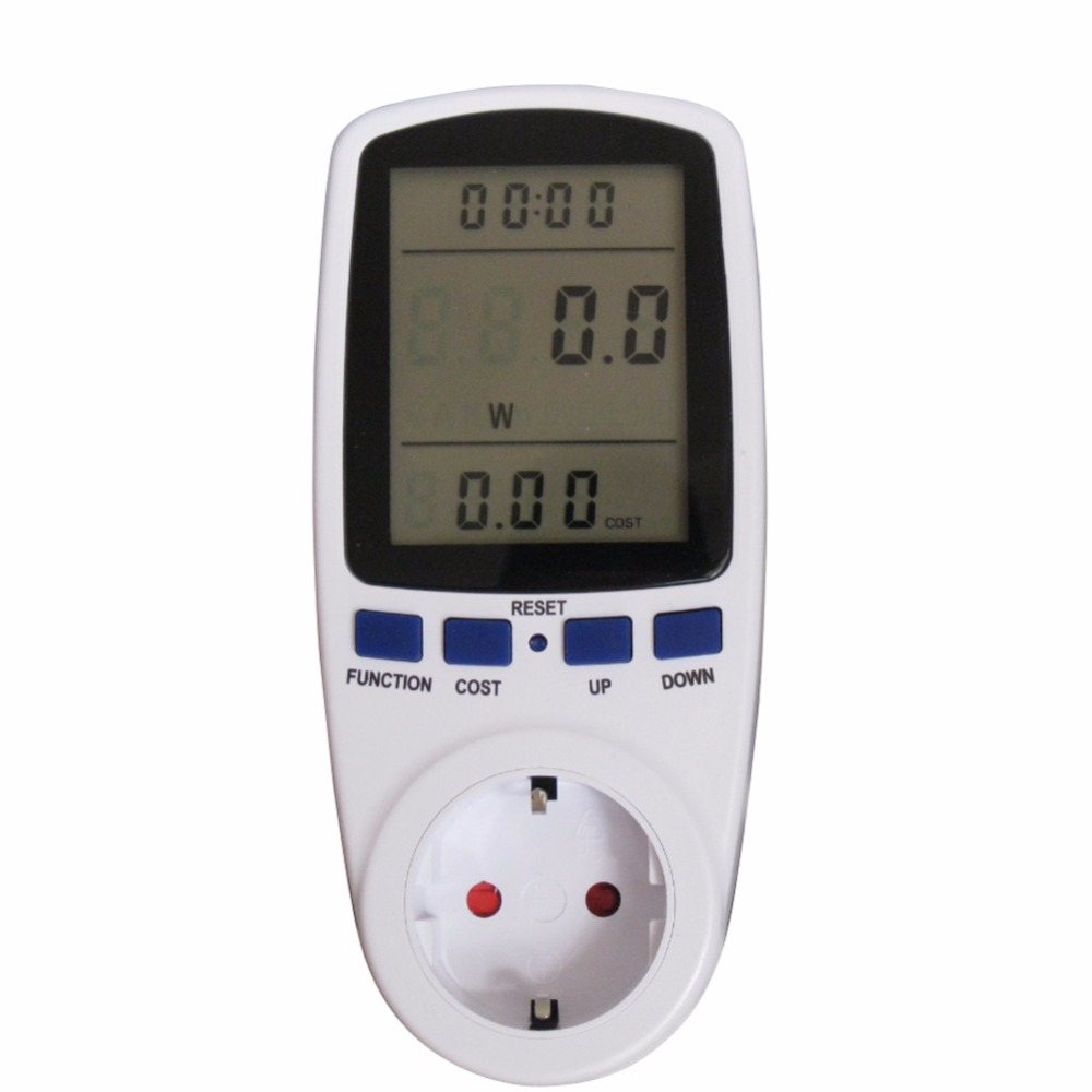 1Pcs EU Plug Digital Voltage Wattmeter Power Analyzer Electronic Power Meter Energy Meter Automatic Kwh Power Switc