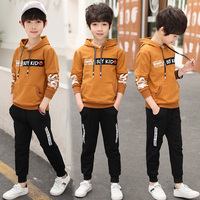 Foreign Trade 2018 Spring New Boys Sports Suit Children's Fashion Printing Hooded Clothes Set Kids Sweatshirt + Pants 2 Pcs X79