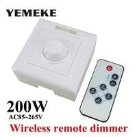 200 W הלבן LED דימר מתג שלט רחוק אלחוטי IR Knob יחידות רבות ניתן לעמעום LED Downlight אור LED פנל Led נורות