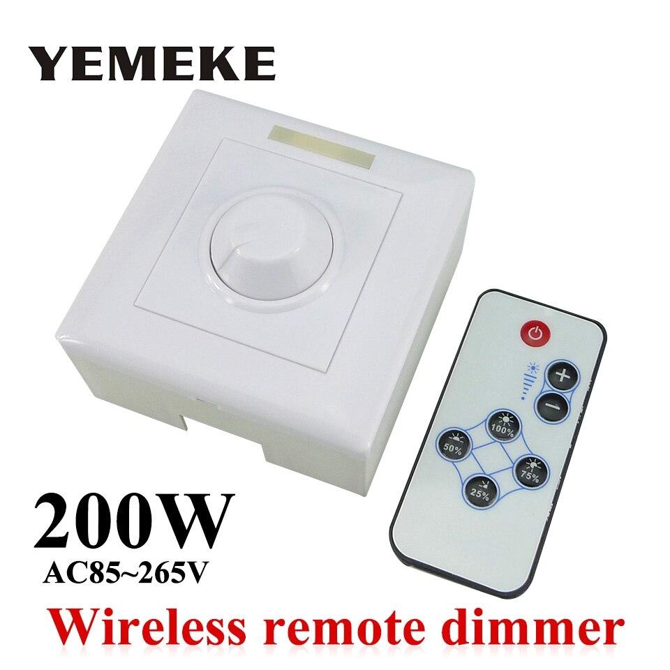 200 W Blanc LED Gradateur IR Bouton Commutateur Sans Fil Télécommande De Nombreuses Unités Dimmable LED Downlight LED Panneau Lumineux Led ampoules