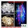 10 M/20 M/30 M/50 M/100 M LED Luces de Cadena 100/200/400/500 Led de Navidad de La Boda Decoraciones Del Partido Garland Iluminación 220 V/110 V