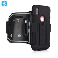 Sporty Armband Kickstand Case For Iphone X Cell Phone Sleeve With Arm Band Wristband Holster Clip