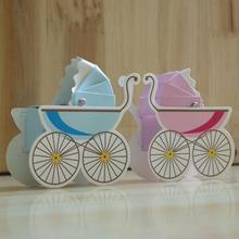 50pcs/lot Creative Baby Carriage Carts Candy Box Baby Shower Sweet Gift Boxes Wedding Party Favor Box  Paper Candy Box 20pcs lot new design drawer paper candy chocolate boxes baby shower gift packaging box birthday wedding party favor box
