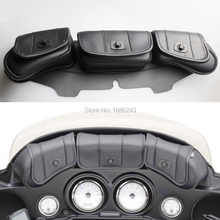 New Windshield Bag Saddle 3 Pouch Pocket Fairing Fits For Harley FLHT FLHTC FLHX Touring - DISCOUNT ITEM  5% OFF Automobiles & Motorcycles