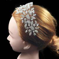 Nankiya Fashion Ladies Wedding Headpieces Hair Clip Crystal Zirconia Wholesale Soft Copper Bridal Hair Tiaras Headdress NT4523
