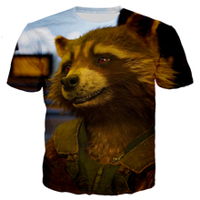 Jumeast Men/Women Brand Marvel Hero Rocket Raccoon 3D Printing T-shirt Casual Shirt Hip-hop Fashion S-5XL