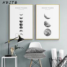 Moon Phase Canvas Posters and Prints Minimalist Luna Wall Art Abstract Painting Nordic Decoration Pictures Modern Home Decor(China)