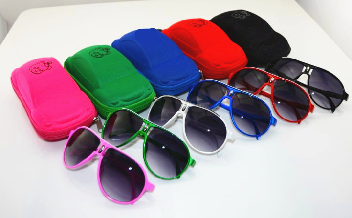 Car glasses case kids Sunglasses box Cute Toy Box pencil cases Pilot Sunglasses Boys Girls Sun glasses