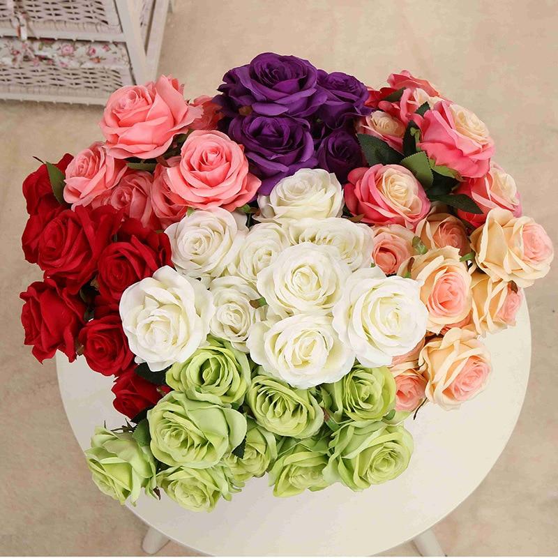 1 μπουκέτο τεχνητό λουλούδι 9 κεφαλές - Προϊόντα για τις διακοπές και τα κόμματα - Φωτογραφία 3