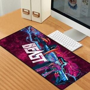 Image 4 - Sovawin 80x30cm XL Lockedge grand tapis de souris de jeu ordinateur Gamer CS GO clavier tapis de souris Hyper bête bureau tapis de souris pour PC