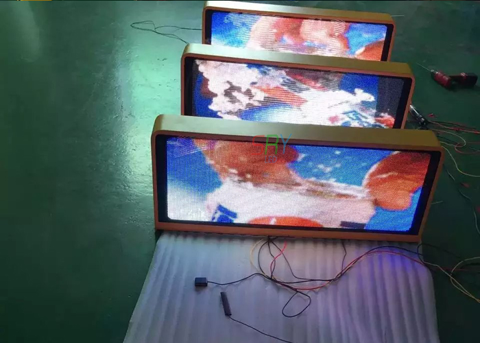 P5 960*320mm LED Taxi Top Media <font><b>Billboard</b></font> Double Side Taxi LED Display led taxi roof <font><b>sign</b></font> image