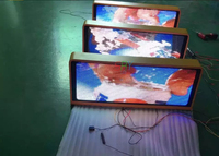 P5 960*320mm LED Taxi Top Media Billboard Double Side Taxi LED Display led taxi roof sign