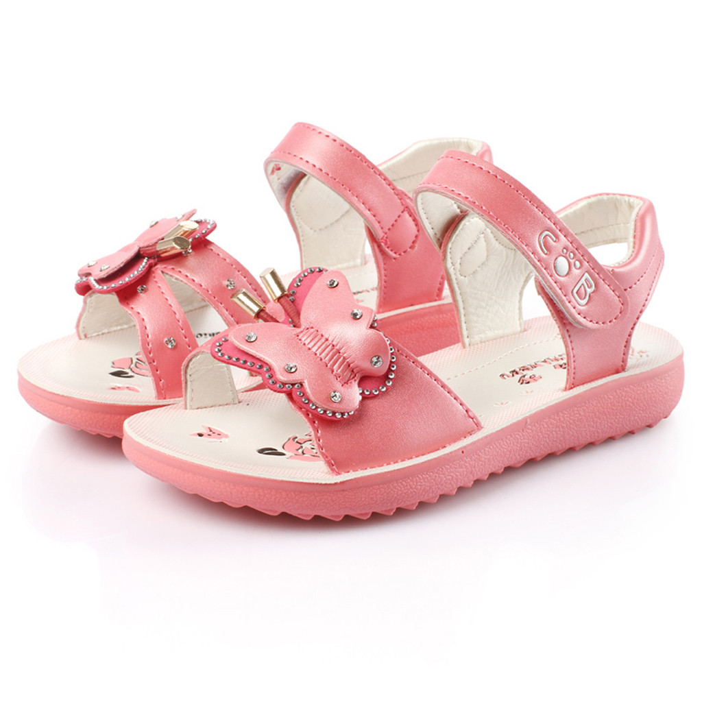EDTO Children Gril Sandals Shoes Summer Infant Tassel Floral Princess Slippers