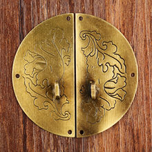 1Pc 60mm Antique Bronze Round Ring Furniture Door Pull Handle Metal Cabinet Dresser Drawer Knobs Clasp for Jewelry Wooden Box(China)