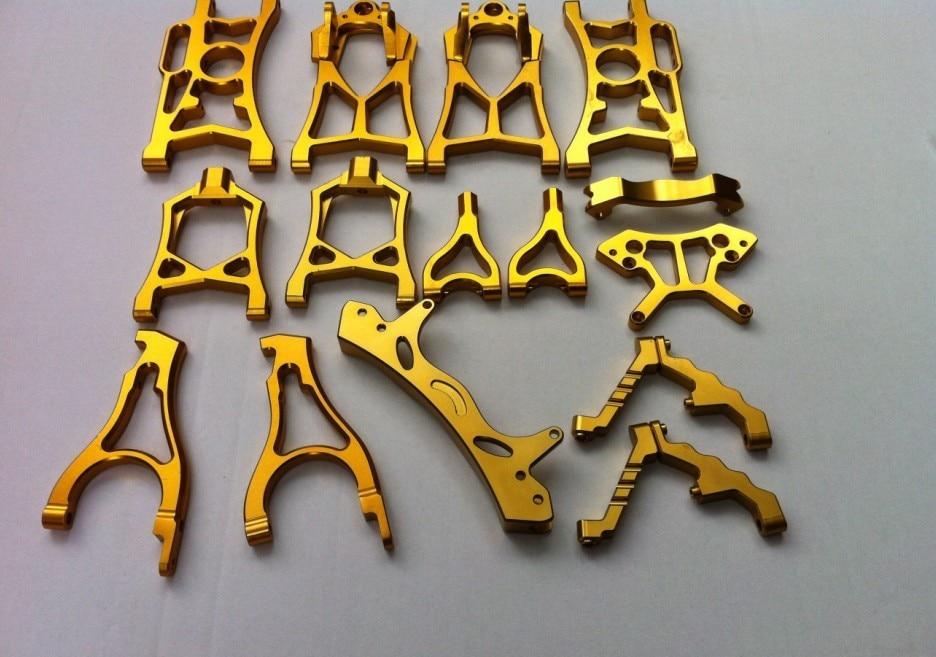 Сплав участники Бахи подходит baja 5b 5 t 5SC цвет золотистый комплект подвеска кронштейн передний Держатель Скоба башня амортизатора