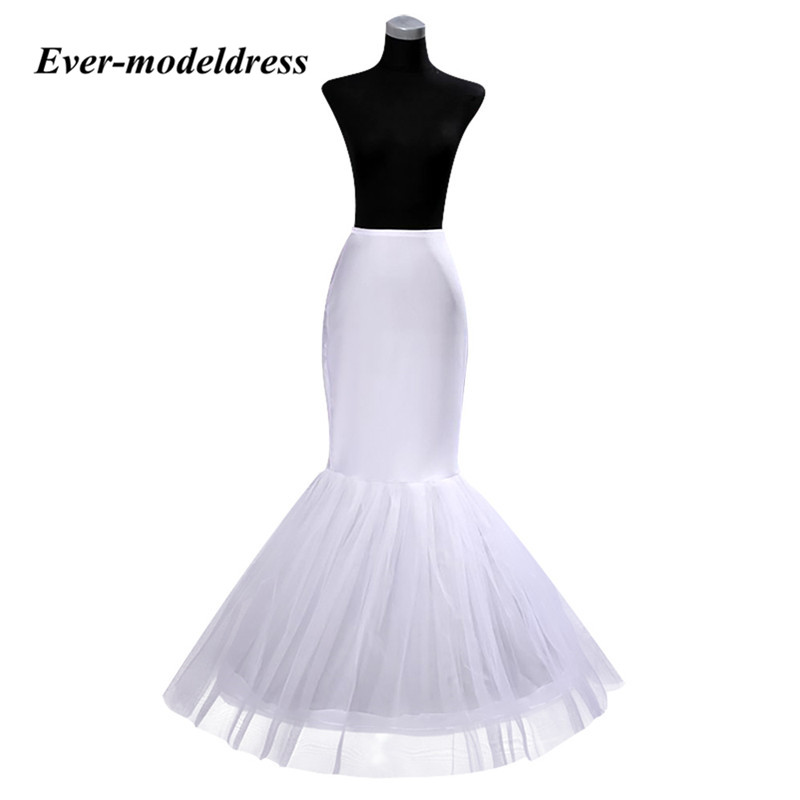 Mermaid Petticoat Underskirts Satin And Tulle Dress For Wedding Accessories Enaguas Para El Vestido De Boda Crinoline