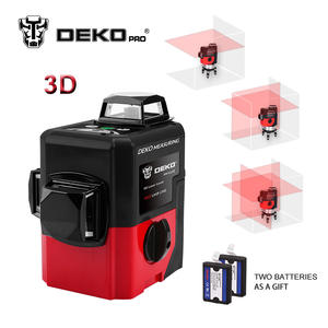 DEKOPRO LL12-HVR 12Lines 3D Laser Level Self-Leveling 360 degre Horizontal & Vertical Cross Powerful Outdoor can use Detector