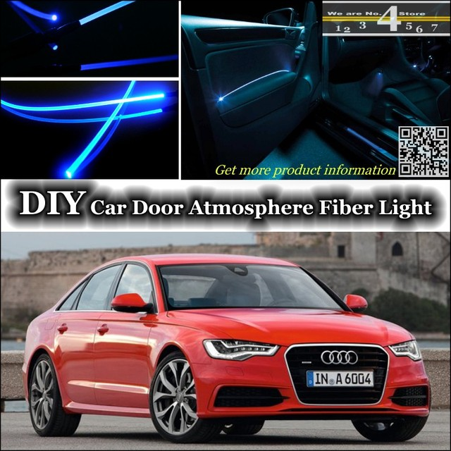 For Audi A6 S6 Rs6 C6 C7 Interior Ambient Light Tuning Atmosphere Fiber Optic Band Lights Door