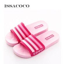 ISSACOCO 2019 Shoes Woman Slippers Sandals Women High Quality Soft Summer Casual Beach Bathroom Zapatillas Pantufa