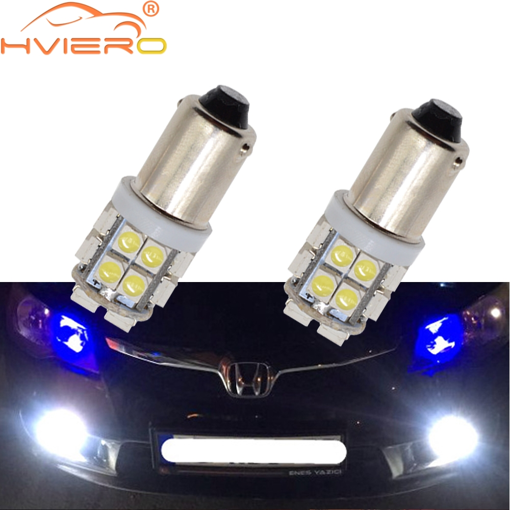 2X White Led T11 Ba9s T4w 8Led 1210 Auto Led Plate Bulb Festoon Dome Door Bulb Trunk Light Marker Gauge Lamps Dc 12v