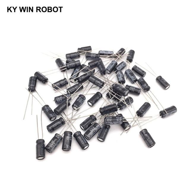 50pcs/lot 10UF 63V 10mf 105C 5X11mm Aluminum Electrolytic Capacitor 63V10UF radial lead 50pcs