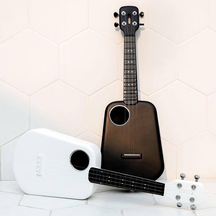 4 Strings 3 Colors 23 Inch 2 LED Bluetooth USB Populele Smart Ukulele Ukulele Concert White Acoustic Electric Guitar