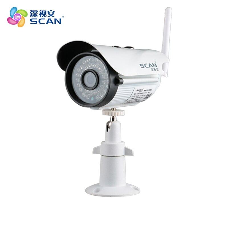 720 P Bala Câmera IP Wifi 1.0mp Webcam Segurança Vigilância CCTV Detecção de Movimento Ao Ar Livre À Prova D' Água Mini Branco Freeshipping