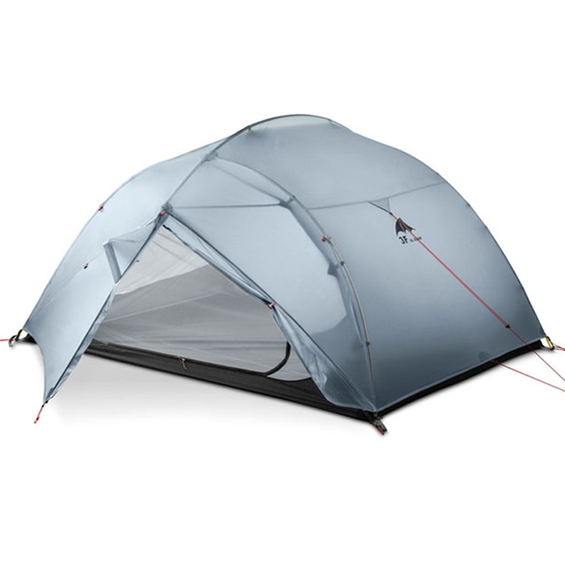 Dhl freeshipping 3f ul engrenagem 3 pessoa 4 temporada 15d barraca de acampamento ao ar livre ultraleve caminhadas mochila caça tendas à prova dwaterproof água