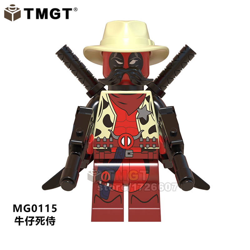 TMGT 20PCSLOT Super Heroes Sheriff Deadpool Building Blocks Deadpool 2 Gwenpool Action Figures Children Gifts Toys
