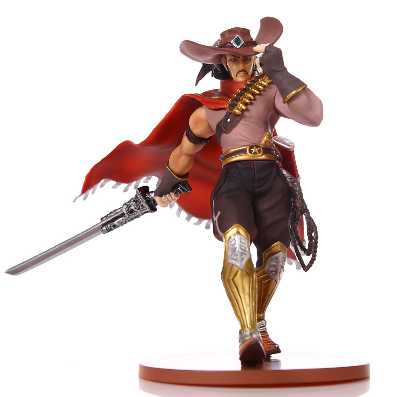 2017 new 18cm Cowboy  Yasuo the Unforgiven pvc action figure ACGN game figure Garage kit brinquedos anime kids toys hot sale acgn lol game the void reaver toy figures classic collection khazix model with the original box action figure 18 cm wl0014