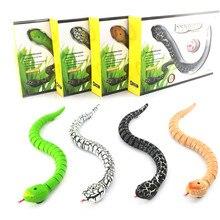 RC Animal Toys Kids Remote Control Snake Rattlesnake Toy Child Plastic Trick Terrifying Mischief Toy Top Birthday Gift все цены