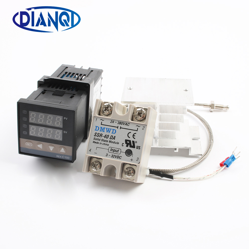 Mutil-Input Economical Digital PID Temperature Controller K type Input solid state Relay SSR relay Output REX C100 Rex-C100